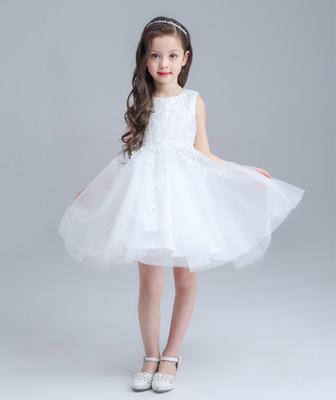 2018 2016 New Design Children White Wedding Dresses Flower Girl Ball ...