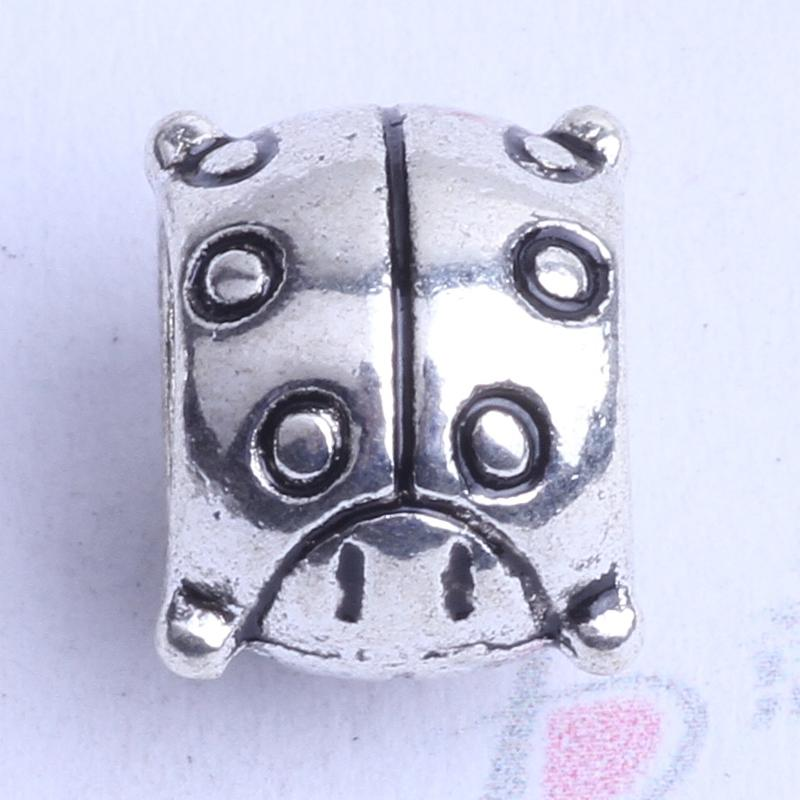 250PCs Round Stainless Steel Hollow Beads High Quality Findings For Jewelry