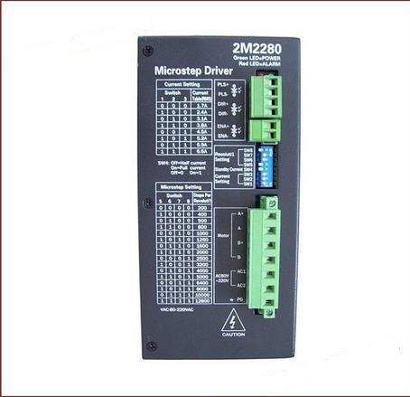 Regulador de la tarjeta de conductor del motor de pasos de 2M2280 CNC para NEMA 34/42/51 AC80-220V 1.7 ~ 6.6A 2 fases