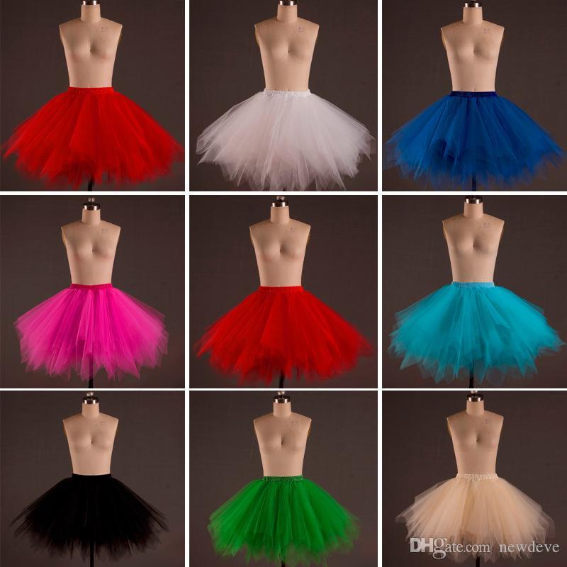 Gorący sprzedawanie Kolorowe Suknia Balowa Slip Plus Size Krótkie Petticoats Skalowalne Wzburzyć Akcesoria ślubne w magazynie