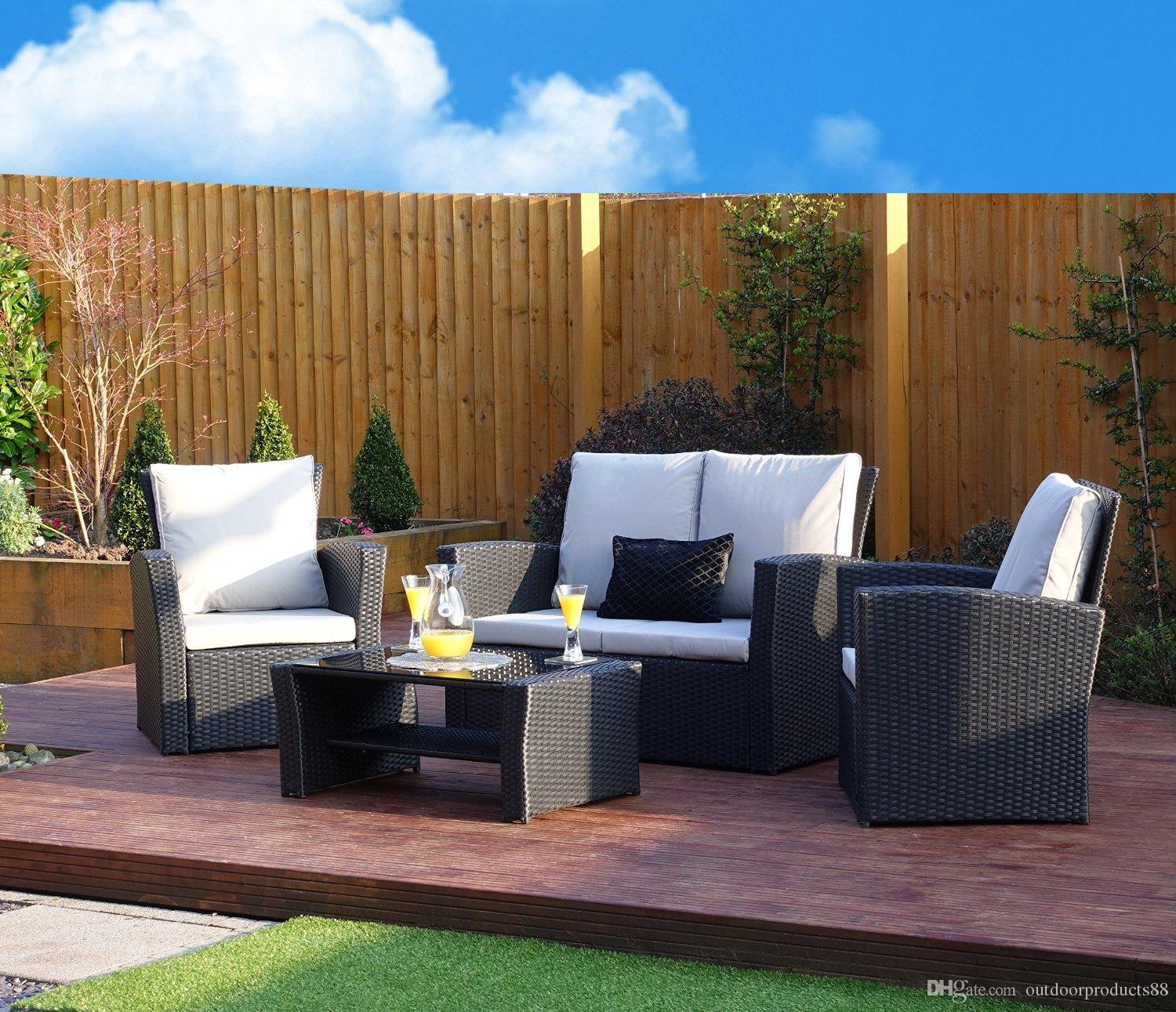 Amazing 2019 New Rattan Wicker Weave Garden Furniture Patio Conservatory Sofa Set Rattan Weave Sofa Set Garden Conservatory Furniture Sofa Set Furniture From Andrewgaddart Wooden Chair Designs For Living Room Andrewgaddartcom