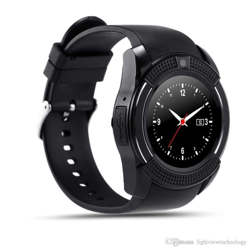 New Arrival 8 Colors V8 Support TF SIM Card Smart Watch Phone Bluetooth 3.0 IPS HD Full Circle Display MTK6261D Smartwatch VS GT08 DZ09