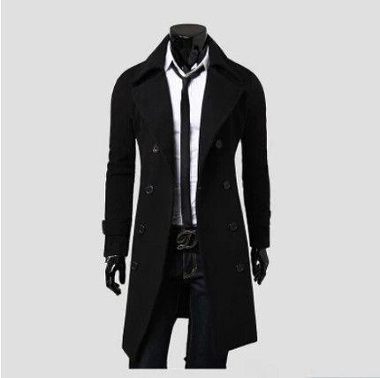 Männer lange Jacken Luxus prägnante Mäntel warme Oberbekleidung Männer Kammgarn warme Mode Windjacke Trenchcoat Business Man Coat Jacken hoch