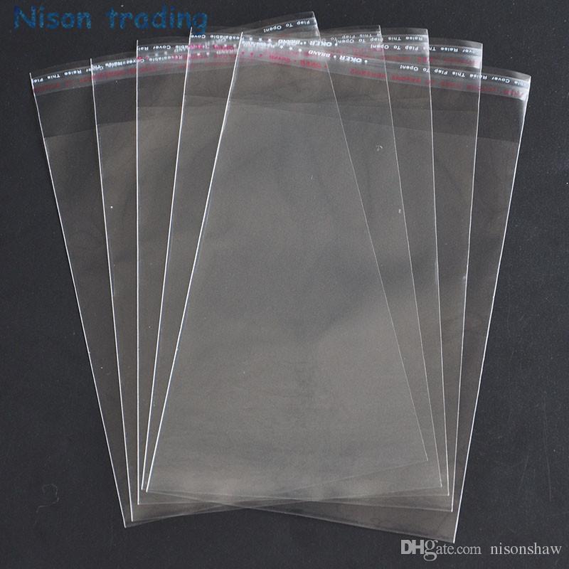 libera 11 * 20cm 500pcs / pack trasparente guarnizione autoadesiva OPP sacchetto richiudibile-caramella imballaggio sacchetti di plastica, lucency poli sacchetto