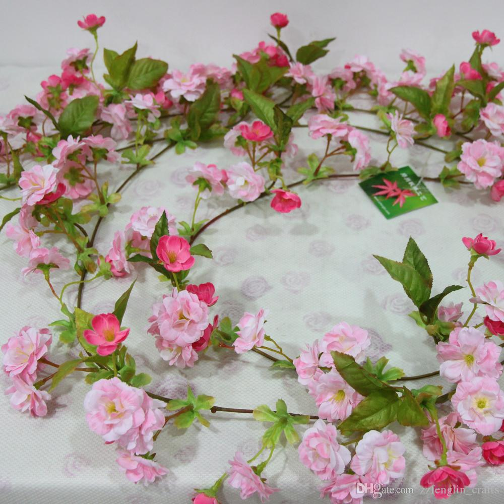 2018 hot selling 170cm soft touch artificial cherry blossom flower hot selling 170cm soft touch artificial cherry blossom flower vine cheap wholesale artificial flower for sale izmirmasajfo
