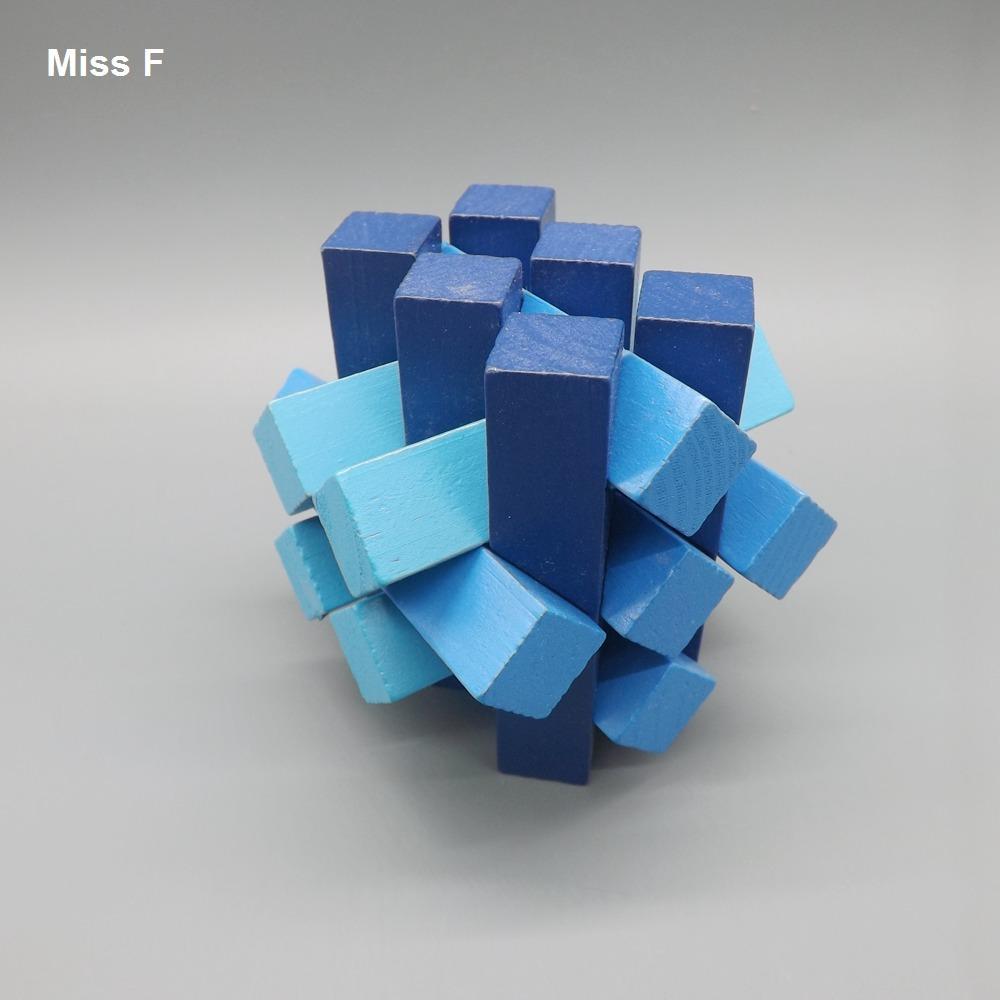 Azul Quinze Battens Kong Ming Bloqueio Enigma Jogo de Educação Para Crianças IQ Trainer