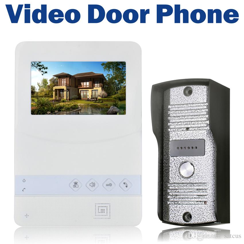Colorful Video Door Phone Wired 4.3 inch TFT LCD Doorbell 700 TVL IR Camera Video Intercom for Home Security