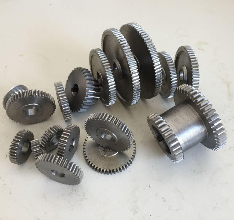 17 قطعة / المجموعة التروس مخرطة مصغرة ، التروس آلة القطع المعدنية ، التروس مخرطة