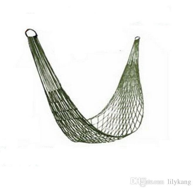 Portable Hanging hammock Canvas Camping Hunting Hammock kids adult hammocks mesh fabric swing Mesh bed free shipping