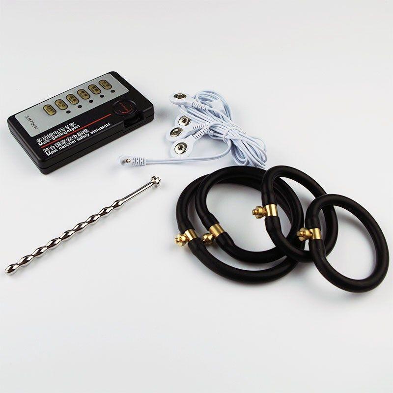Penis Plug Stainless Steel Penis Urethral Sounding Plug Electric/Electro Shock Anal Plug Extender Enlargement Sex Toy For Electrode Gear
