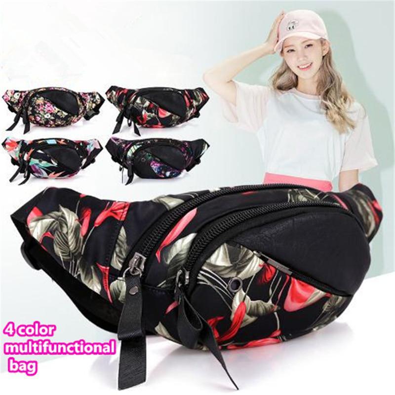 Nouveau sac de taille pack femmes sacs à la taille multifonctionnel 4 couleur femmes poitrine sac portable sac en plein air imprimé poitrine pack out296