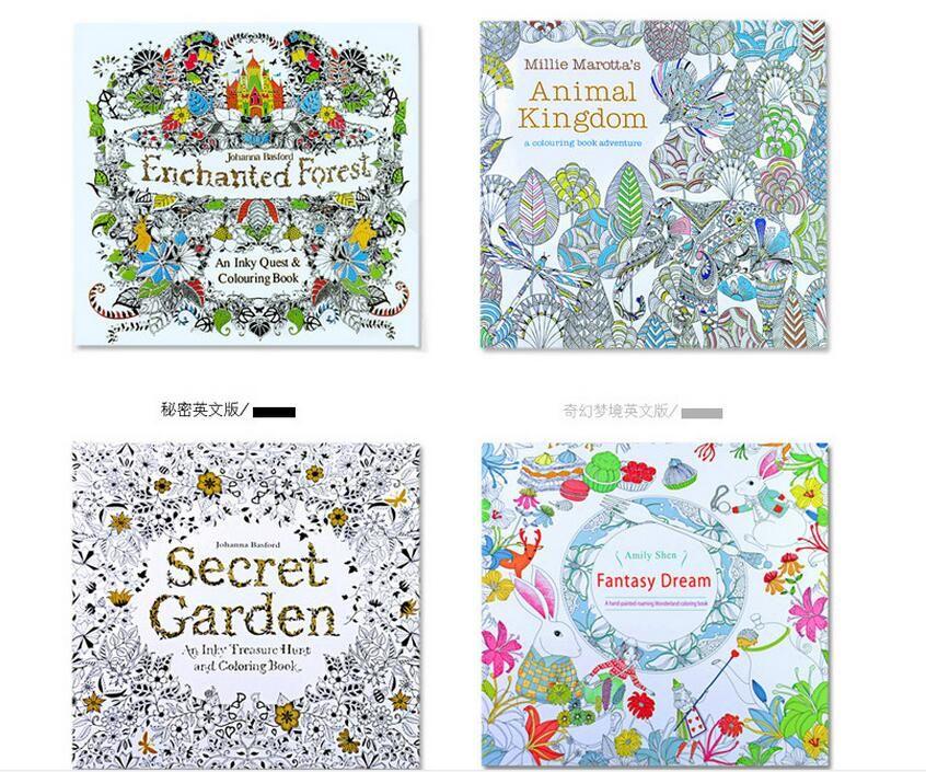 Compre 4 Diseno Jardin Secreto Libro Para Colorear Ninos Adultos