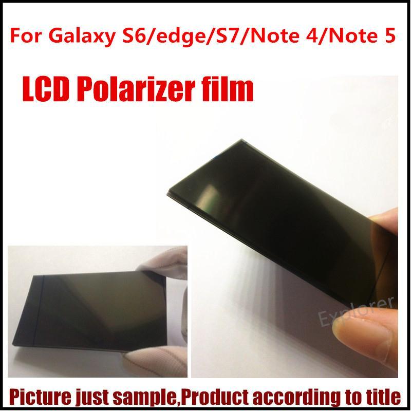 20Pcs Samsung Galaxy S6 S6 가장자리를위한 원래 새 편광판 편광 필름 분산기 주 1 주 4 주 5 교체 부분