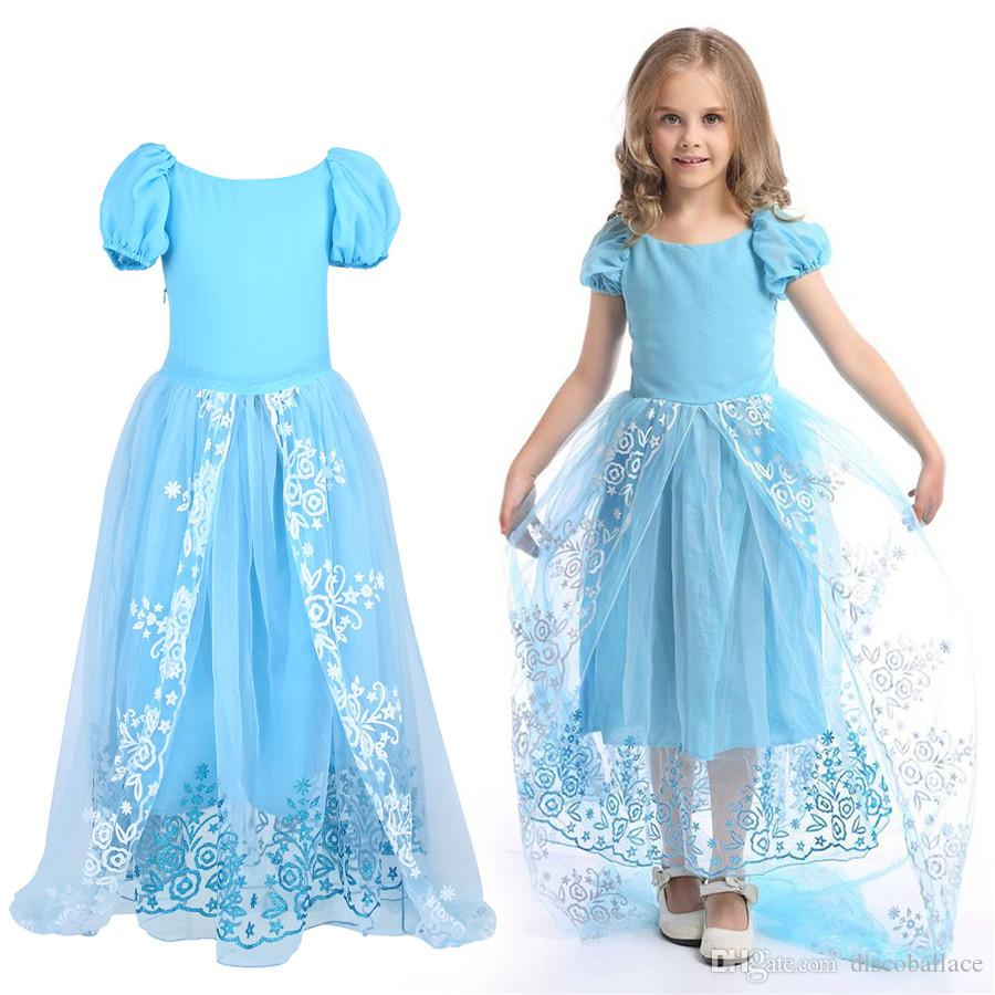 Girls Princess Dress Up Fancy Dress Cosplay Costume Outfit ...