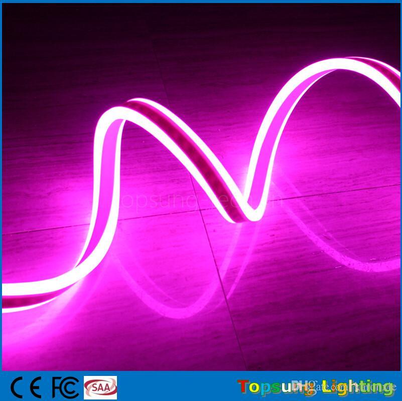 50M Spool довольно двухсторонний излучающий светодиодные неоновые трубки огни гибкие ленты светодиодные неоновые водонепроницаемые для наружных знаков украшения 220V / 110V