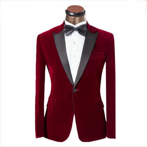 2016 Manteau Pantalon Lastest hommes de conception costume rouge et bleu Tuxedo Mode Marque Hommes Slim Fit Costumes de bal de mariage pour la taille XS-6XL Groom