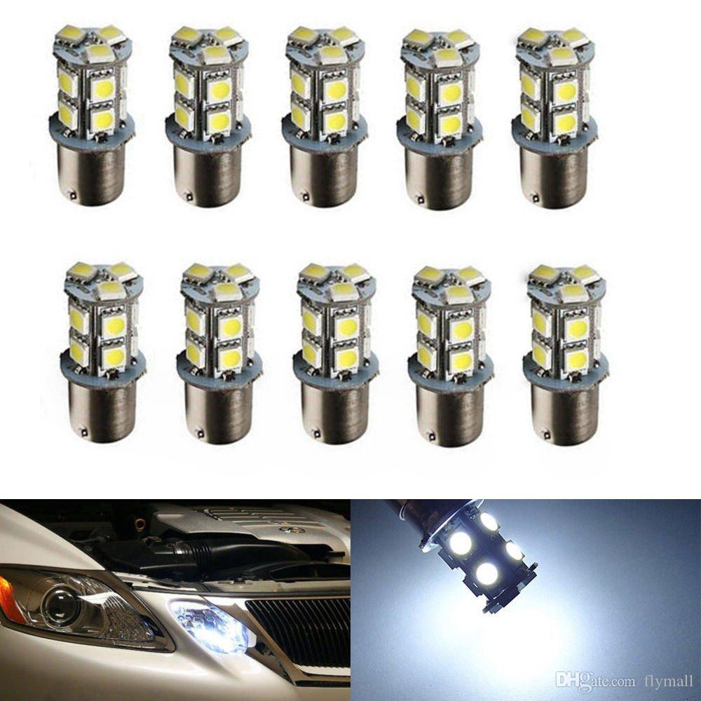 10x High Quality 1156 BA15S 13 SMD LED Bulb Lamp PY21W R5W Led Car Bulbs 13smd 5050 Brake Tail Turn Signal Reverse Lights Car Light