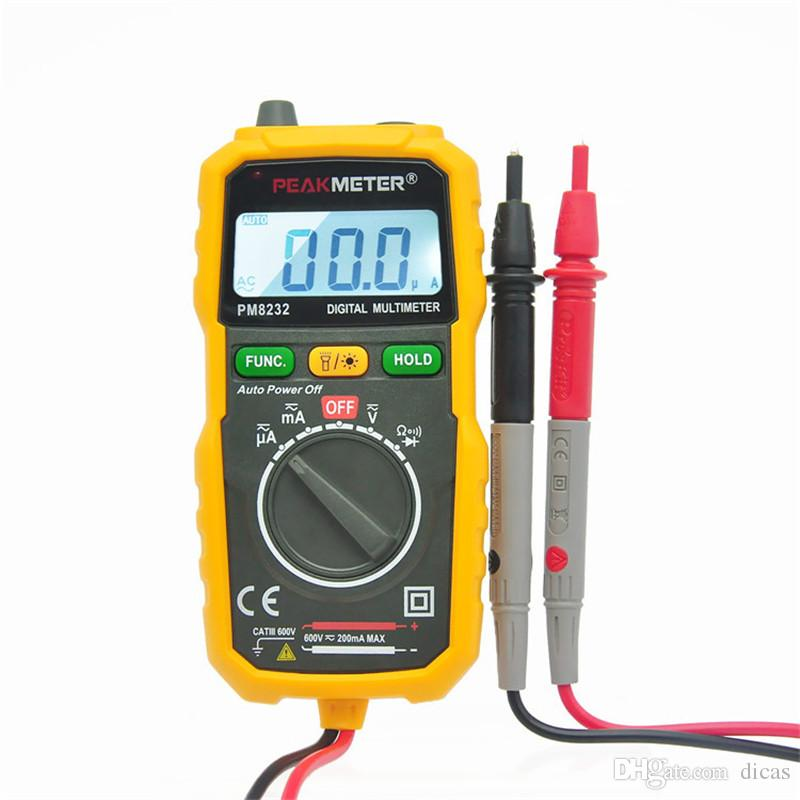 free shipping handhold digital multimeter current resistance capacitance non-contact voltage electrical testing instrument tool