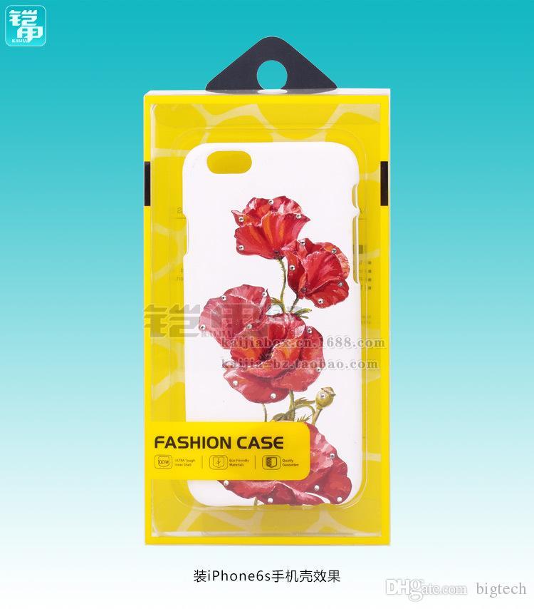 Großhandelspreis 200pcs fertigte Plastikhandyfallverpacken / Handyfallverpackungskasten für iPhone 6s / 7/7 plus Anmerkung 7 besonders an