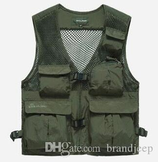 50% OFF Free shipping High Quality Summer men's Vest Brand Multifunctional Quick Dry Mesh Vest Outdoor Casual Vest For Men 55hfx 188