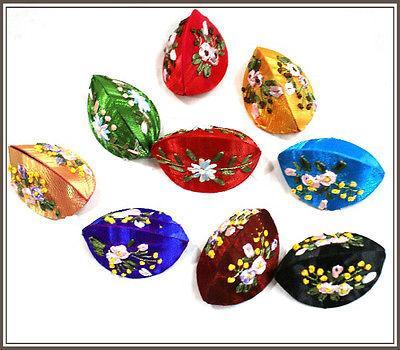 En gros pas cher 12pcs chinois à la main classique broderie de soie boîte à bijoux cadeau boîte sac