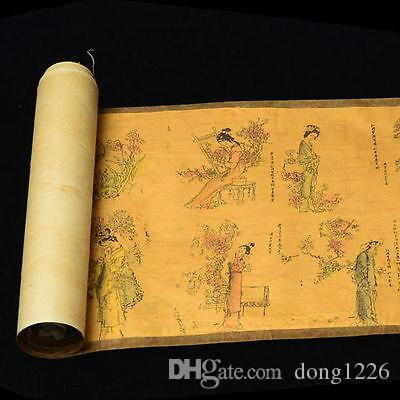 Collection of Chinese Old scroll painting on silk: the Red chamber qunfang NAA08