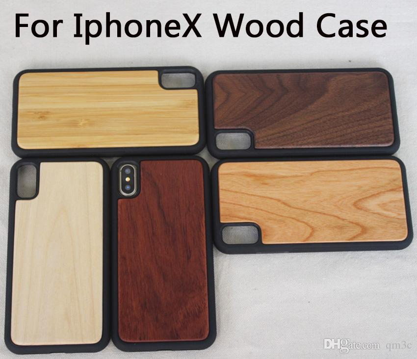 Для Iphone X 8 6 6s 7 plus Деревянные чехлы для телефонов Деревянные чехлы для iPhone Для Samsung S8 Plus S7 S6 S5 edge Бамбуковые чехлы для мобильных телефонов
