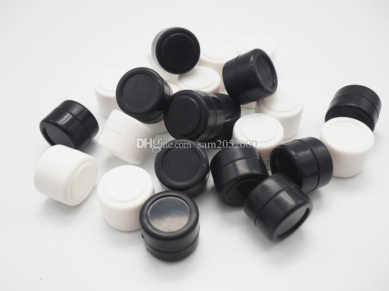 200 pçs / lote Atacado 2 ml Multi cores jarra de cera de silicone silicone jar cera