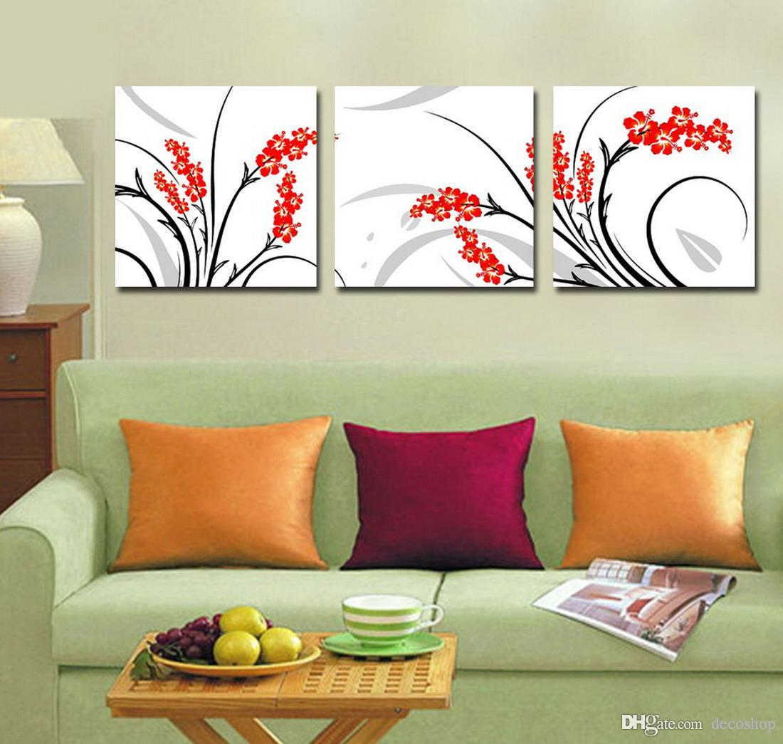 Beautiful Flowers Abstract Floral Painting Giclee Print On Canvas Home Decor Wall Art Set30148