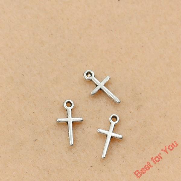 100 stücke Antikes Silber Überzogene Kreuze Charms Anhänger Schmuck Diy Schmuckherstellung Diy Handmade 13x7mm schmuckherstellung