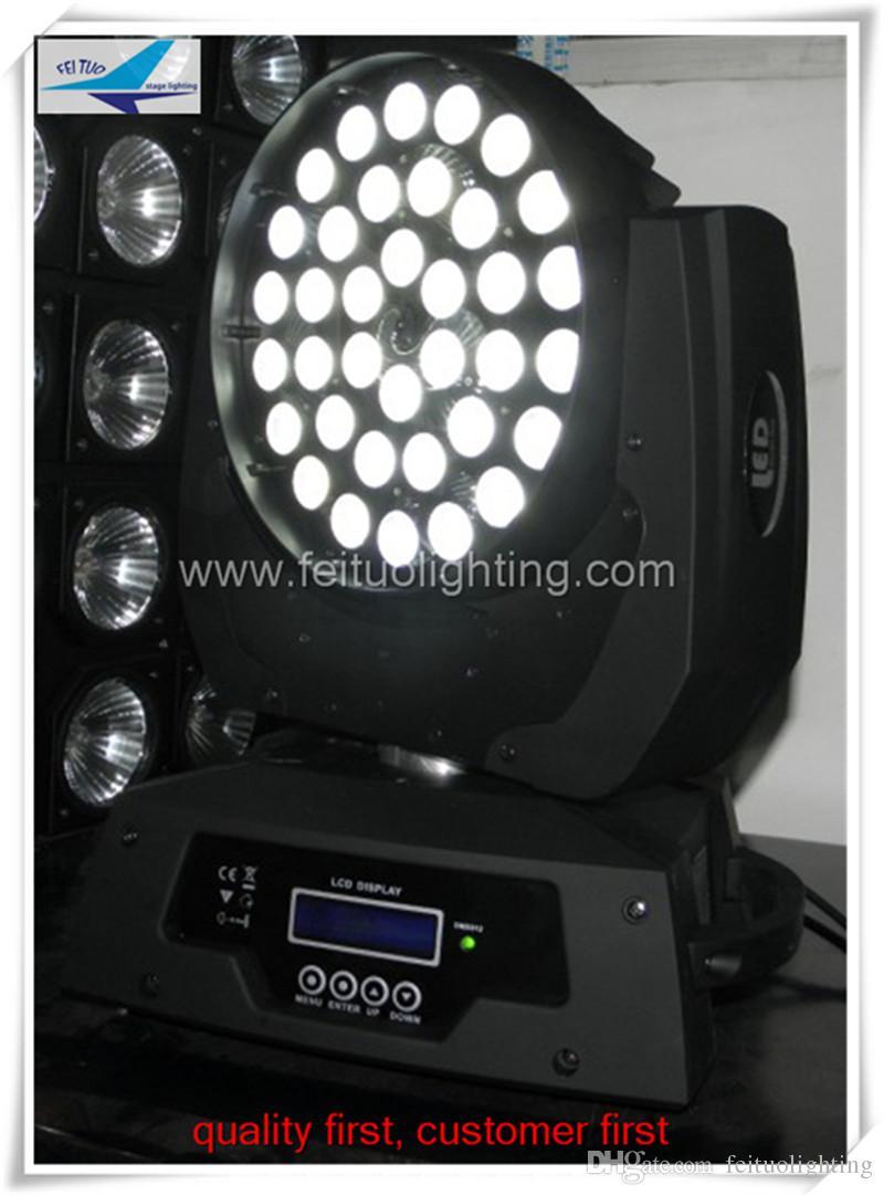 (10pcs / lot) freie Verschiffendisco beleuchtet Preis rgbw geführte Farbe 36 10 Watt geführter beweglicher Kopf der Wäsche