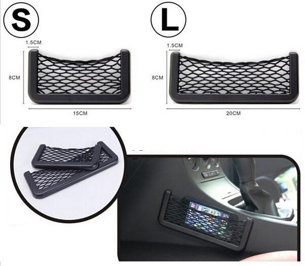 New Black Car Net Organizer Taschen Auto Speichernetz Automotive Bag Box Adhesive Visier Autotasche Für Werkzeuge Handy