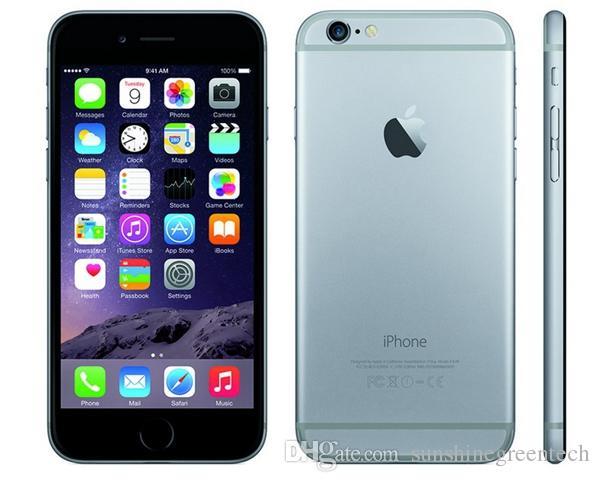 iPhone 6  Remis en état comme nouveau Téléphones portables Authentic Apple iPhone 16G 64G IOS Or Rose 4,7 pouces Smartphone