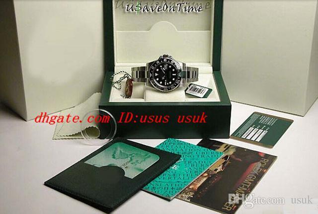 Certificado original do relógio de pulso dos relógios da caixa luxuosa Relógio superior dos homens de aço inoxidável da safira da qualidade superior II CERAMIC 116710