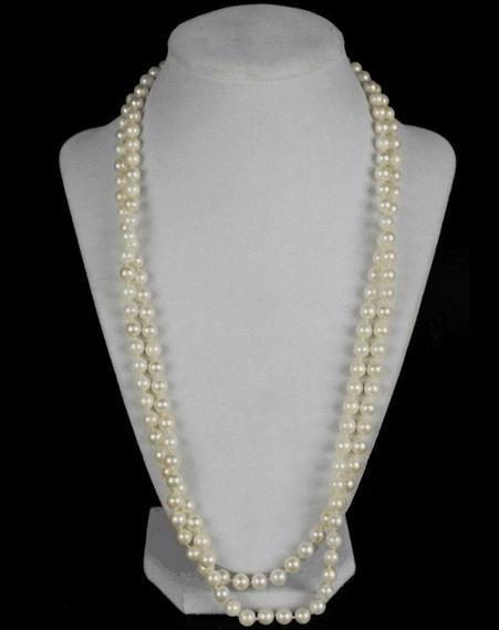 Großhandel 9-10mm natürliche Südsee weiße Perlenkette 38 Zoll 14K Gold Verschluss