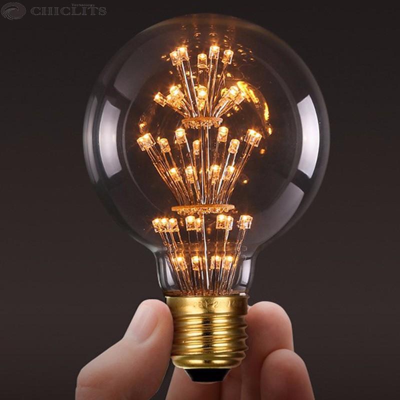 Vintage G80 LED Edison Filament Light Bulb E27 220V Ampolletas Led Light for Home Clear Glass incandescent Warm Yellow Bulb Lamp (7)