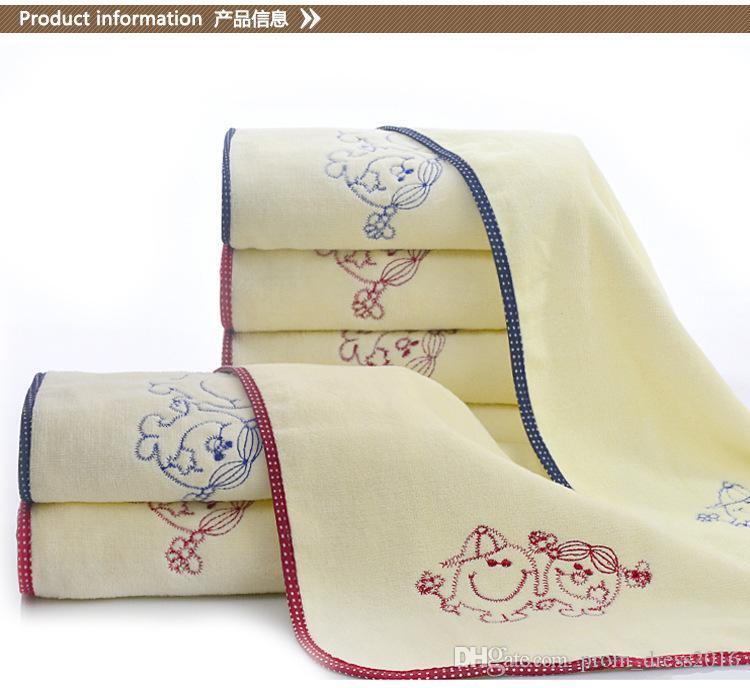 Детские полотенца для лица Оптовая бамбукового волокна полотенца супер мягкие и удобные 34 * 77 младенцев и детей очищающие полотенца для лица Оптовая HY1210