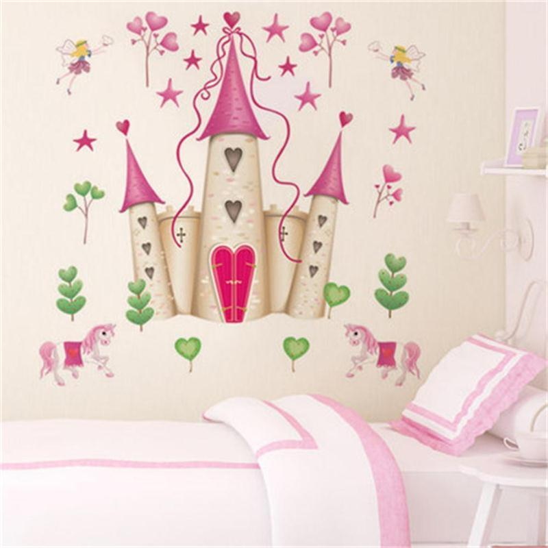 Removable DIY Princess Castle Star Fantasy Girls Bedroom Wall Sticker  Decorative Kids Baby Nursery Home Decor Decal Mural Art Baby Room Wall  Stickers ...