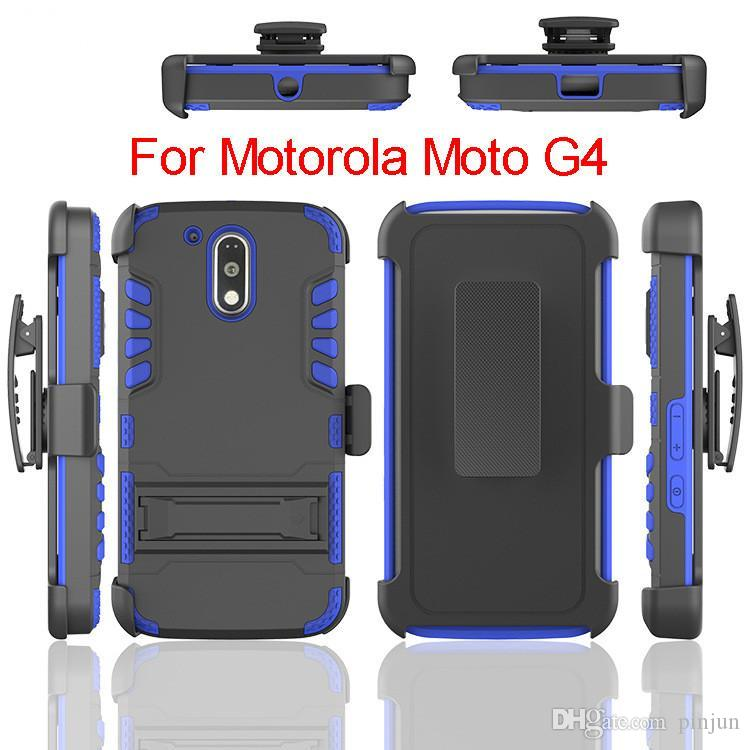 Hybrid Heavy Duty Rüstung Fall Mit Ständer Gürtelclip Holsterabdeckung Für Motorola G4 Plus G4 SPIELEN Samsung Galaxy Note 6