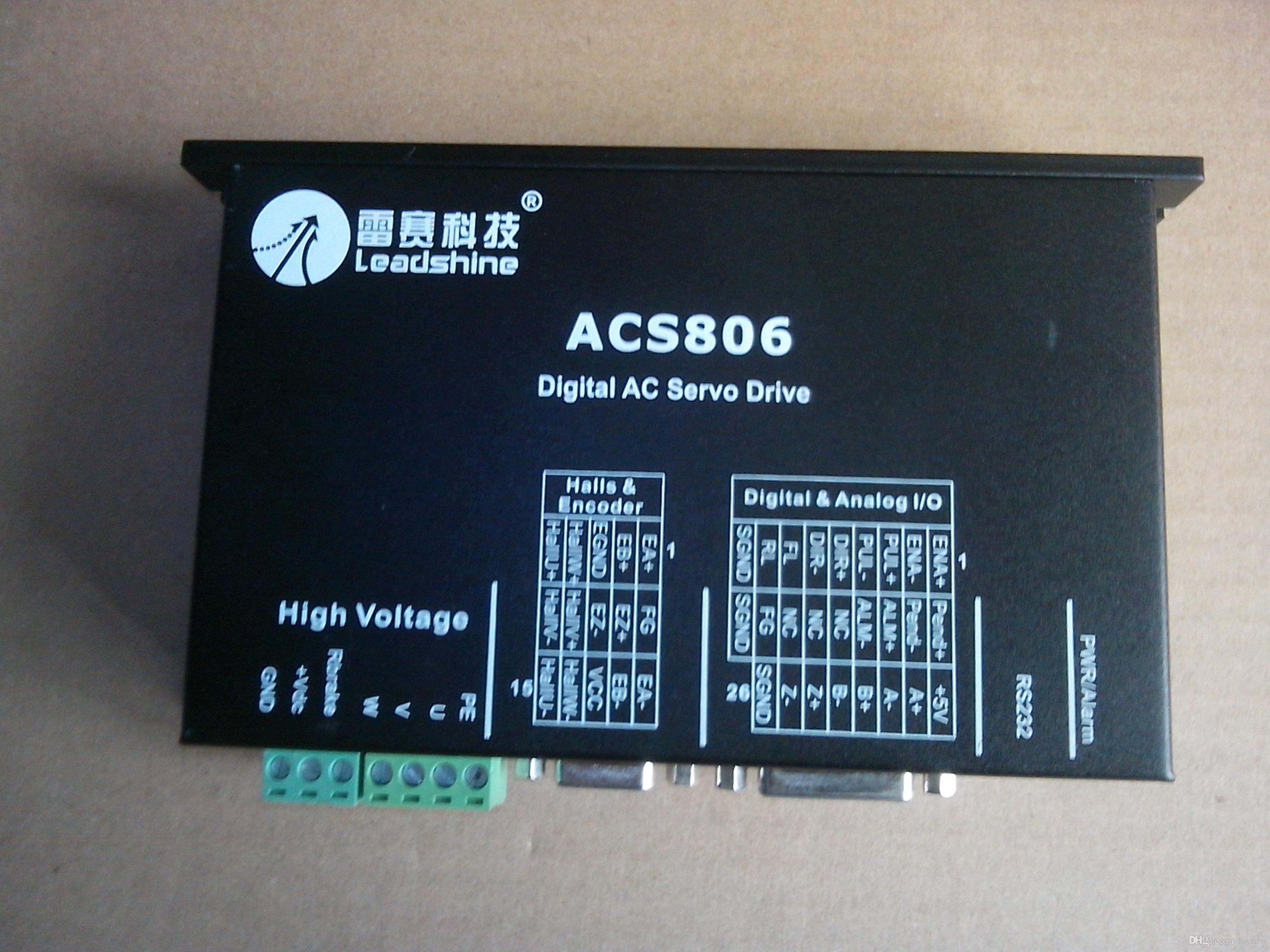 O envio gratuito de New Leadshine servo trabalho motorista ACS806 na 48- 80VDC Fora 0A to18A trabalho com 400W servo motor de ACM604V60-01-2500 CNC