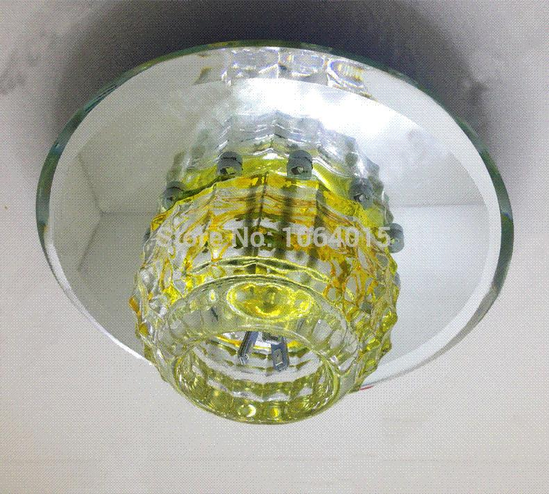 Sept New Chandelier Colorful LED Crystal balcony light Aisle downlight cree
