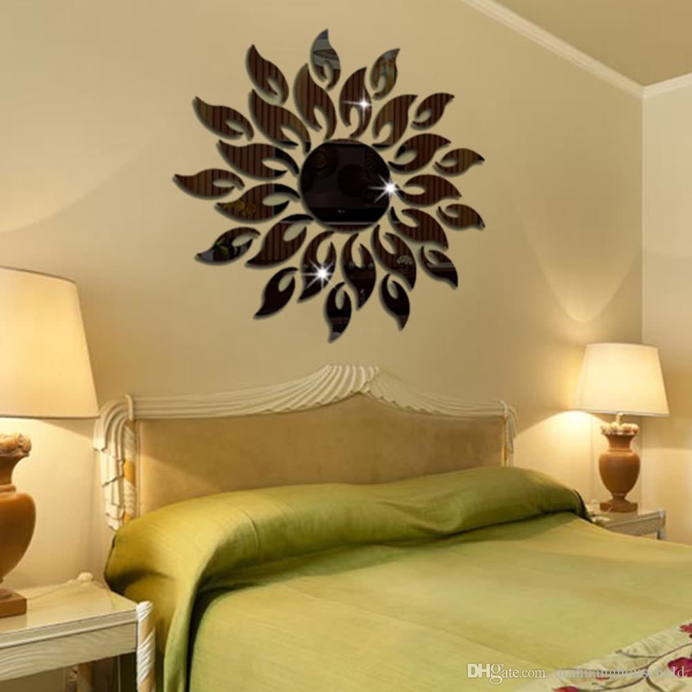 Acrylic Wall Mirror Stickers Mirror Decal Sunshine Fire Room Bedroom ...