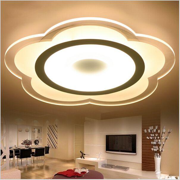 Luces de techo súper delgadas de Lotus iluminación interior led luminaria abajur luces de techo modernas para lámparas de sala de estar accesorio