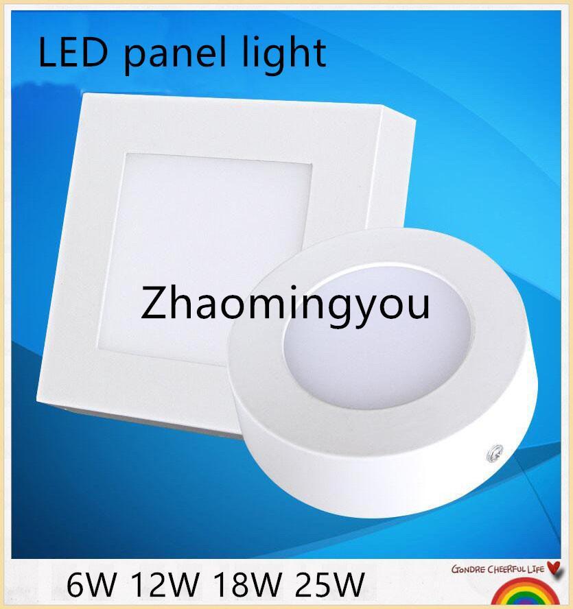 Surface montée panneau de LED SMD 2835 120 degrés d'éclairage LED 6W 12W 18W 25W haute puissance 110-265V chaud Downlight avec chauffeur