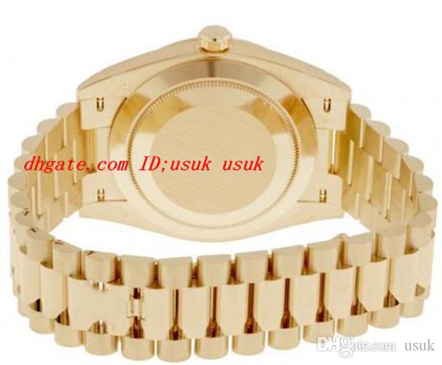 Uhren Qualitätsluxus 40mm Automatische Silber Herrenoberteilbewegung Gelb 18k Mechanical Gold Armbanduhren Watchwahl qtqee