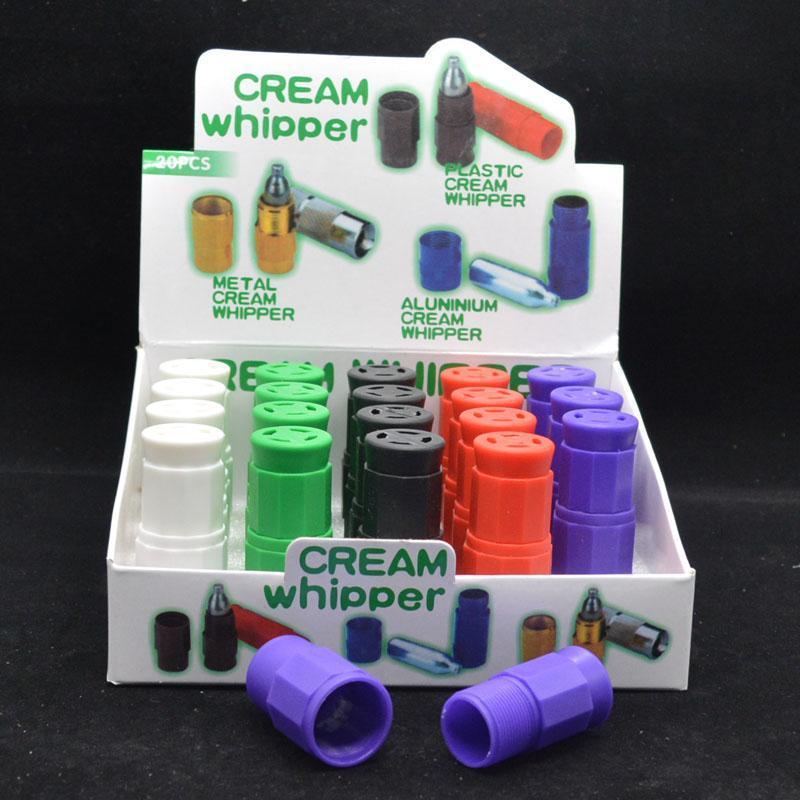 Hot Plastic N2O Creme Whipper cracker creme colorido cracker whipper fumar cores mistura de gás também têm metal Creme Whipper