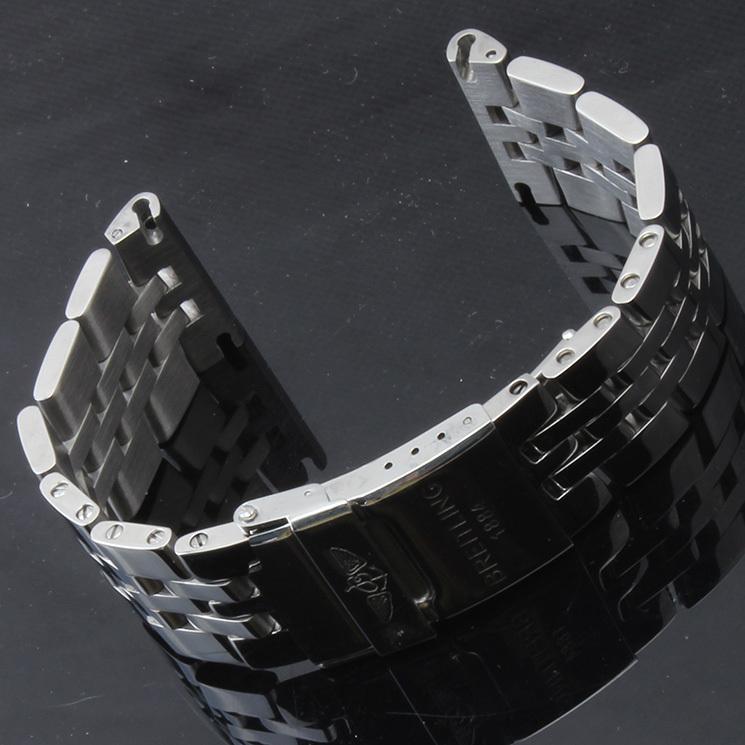 새로운 색상 실버 스테인레스 스틸 시계 밴드 스트랩 엔드 스트레이트 엔드 24mm 새로운 고품질 BANDS 폴딩 버클 기계적 스트랩 freeshippping 뜨거운