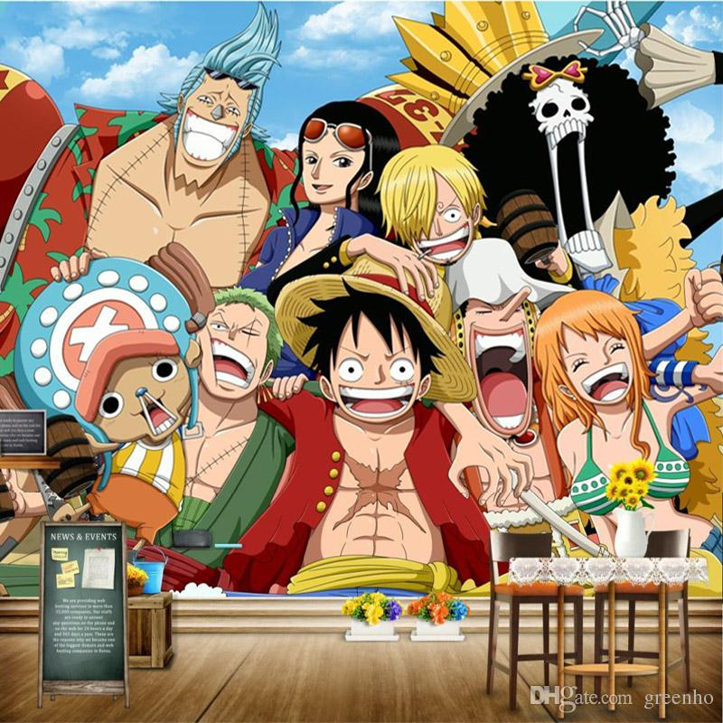 One Piece Wall Mural Japanese Anime Wallpaper 3d Photo Wallpaper Kids Bedroom Hotel Shop Pirate Wall Paper Tv Background Wall Covering Decor