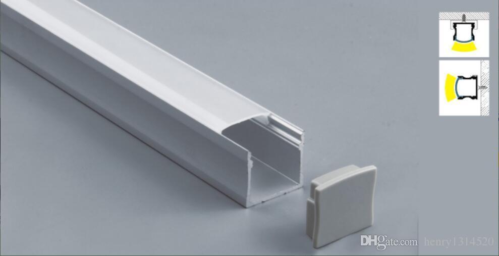 Canale di fissaggio in alluminio sotto il contatore del cabinet Kit luminosa in alluminio per il profilo opale quadrato a led strip