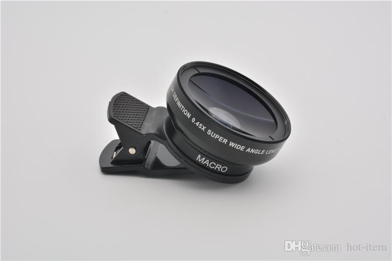 0ec6c920f96df7 ... 37 mm 0.45x Wide Angle Lens Converter + Macro for iphone Samsung Canon  DSLR Sony ...